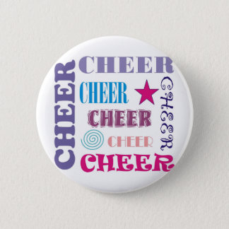 Cheer Repeating 2 Inch Round Button