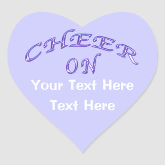Cheer Stickers with Two Text Boxes for Your Text