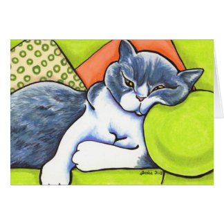 Cheer Up British Shorthair Off-Leash Art™ Custom Card