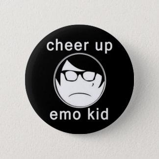 Cheer up emo kid 2 inch round button