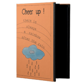 Cheer up! Funny Watercolor Painted Cloud Cover For iPad Air