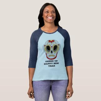 CHEER UP HAPPY NEW YEAR Sleeve Raglan T-Shirt