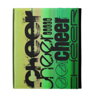 Cheer; Vibrant Green, Orange, & Yellow iPad Folio Cover