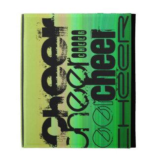 Cheer; Vibrant Green, Orange, & Yellow iPad Folio Case