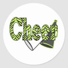 Cheer Zebra Style Stickers