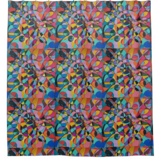 Cheerful Abstract Shower Curtain