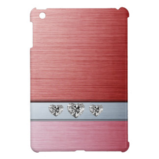Cheerful adorable cute diamond hearts iPad mini case
