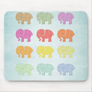 Cheerful adorable girly cute elephant mouse pad