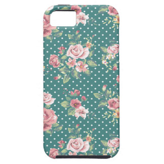 Cheerful adorable vintage retro roses case for the iPhone 5