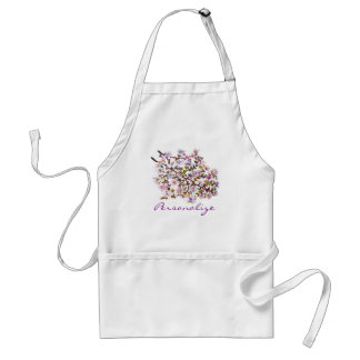 Cheerful Apple Blossom Blooms Acrylic Painting Apron