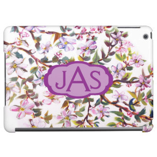 Cheerful Apple Blossom Flowers Acrylic Painting iPad Air Covers