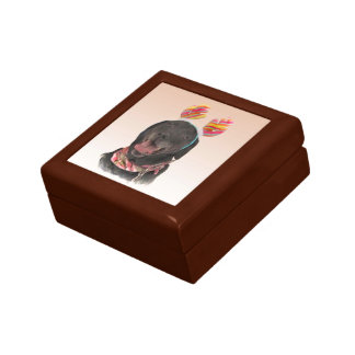 Cheerful Black Labrador Retriever Dog Gift Box