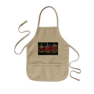 Cheerful Bubble-Covered Cherries Kids Apron
