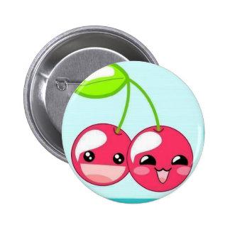 Cheerful Cherries Button