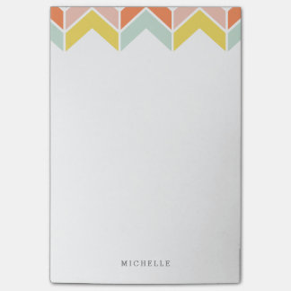 Cheerful Chevron Post-it Notes