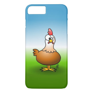 Cheerful chicken on a farm. iPhone 7 plus case