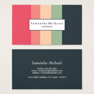 Cheerful Color Block Business Cards