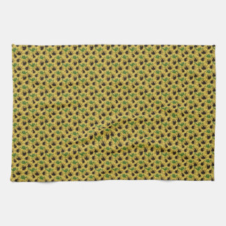 Cheerful Country Sunflower Patterned Kitchen Towel