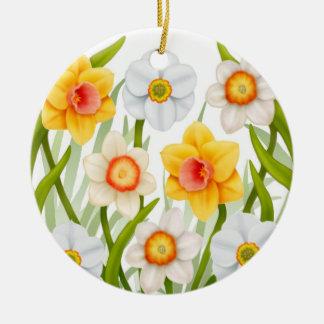 Cheerful Daffodils Ornament