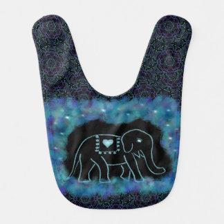 Cheerful Elephant Baby Bib