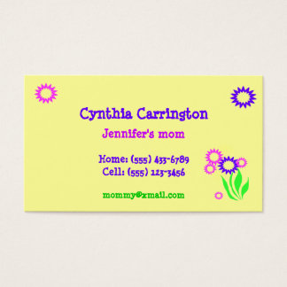 Cheerful Flowers Mommy Card