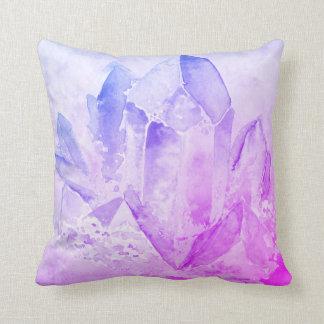 *~* Cheerful Fun Faux Amethyst Crystal Throw Pillow