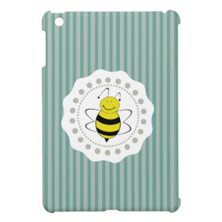 Cheerful funny cute bee doily lace case for the iPad mini
