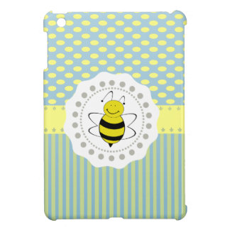 Cheerful funny cute bee doily lace iPad mini case