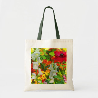 Cheerful Garden Abstract Tote Bag