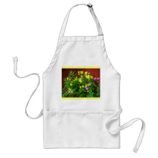 Cheerful garden standard apron