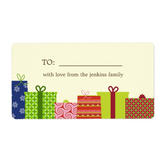 Cheerful Gifts Holiday Gift Labels