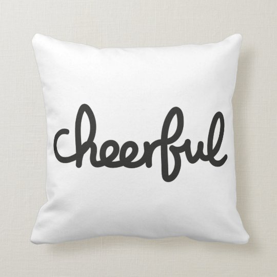 Cheerful handwritten throw pillow