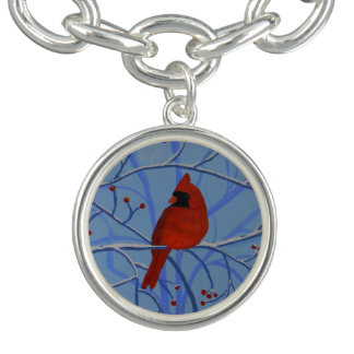 Cheerful heart Cardinal Bracelet