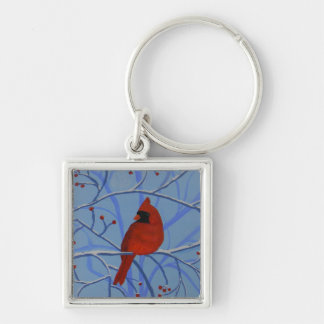 Cheerful heart Cardinal Keychain