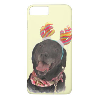 Cheerful Holiday Black Labrador Retriever Dog iPhone 8 Plus/7 Plus Case