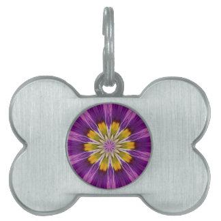 Cheerful Hope Purple Kaleidoscope Pet ID Tag