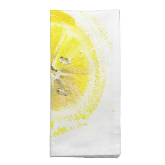 cheerful lemon napkins