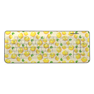 Cheerful lemon pattern wireless keyboard