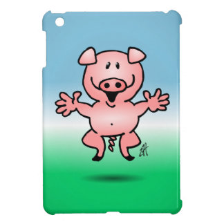 Cheerful little pig iPad mini cover