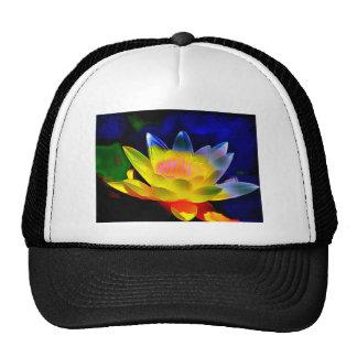 Cheerful Lotus Flower Trucker Hat