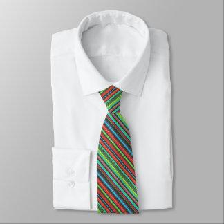 Cheerful Multicolored Stripe Pattern Tie