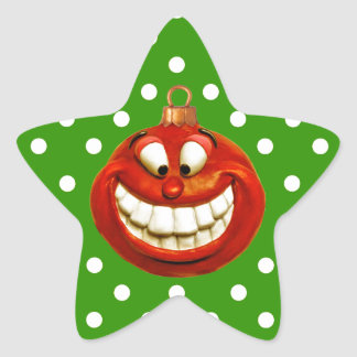 Cheerful Orniment Star Sticker