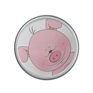 Cheerful Pink Pig Cartoon Bluetooth Speaker