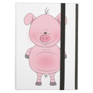 Cheerful Pink Pig Cartoon Case For iPad Air