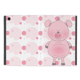 Cheerful Pink Pig Cartoon iPad Mini Cover