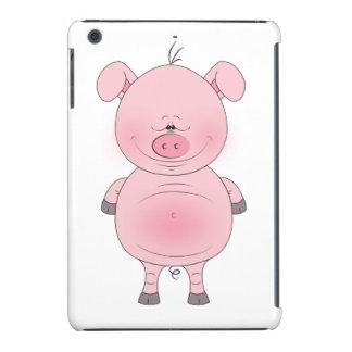 Cheerful Pink Pig Cartoon iPad Mini Retina Cover