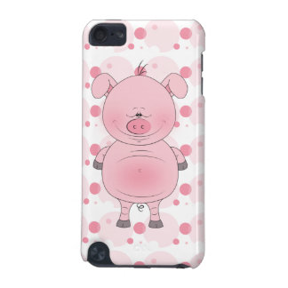 Cheerful Pink Pig Cartoon iPod Touch 5G Case