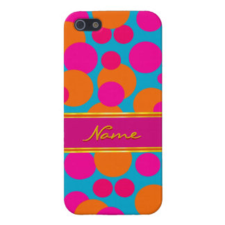Cheerful Polka Dots iPhone Case in Red / Blue