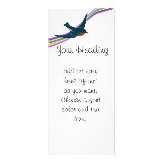 Cheerful Rainbow and Bluebirds Rack Card
