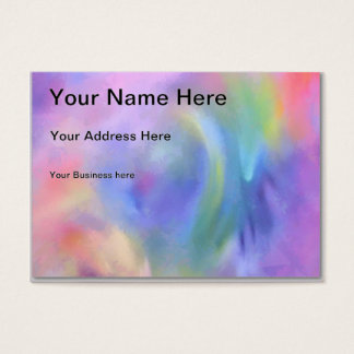 Cheerful Rainbow Blend Abstract Business Card